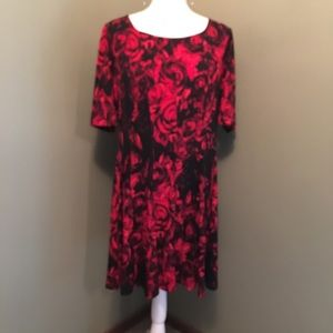 Connected 16P red & black dress